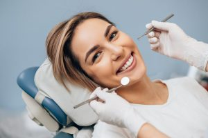 woman visiting dentist in Duncanville