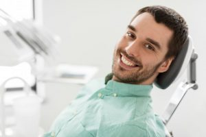 man visiting dentist in Mesquite