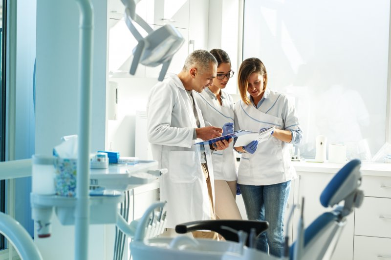 Team of dentists in Love Field