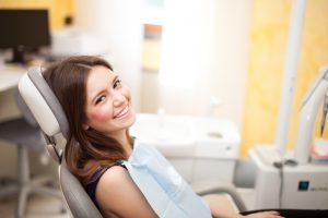 woman visits dentist at Love Field